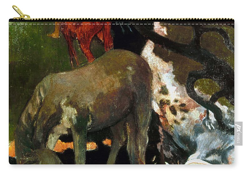 1898 Carry-all Pouch featuring the photograph Gauguin: White Horse, 1898 by Granger