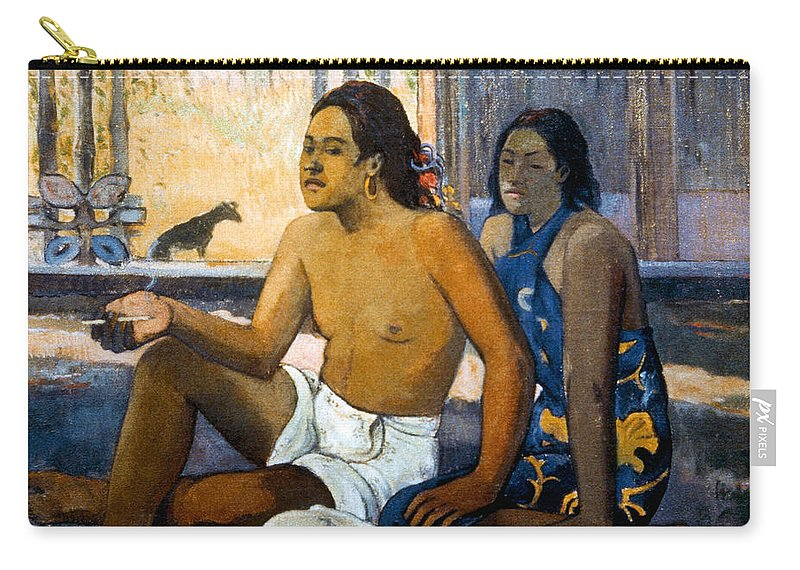19th Century Carry-all Pouch featuring the photograph Gauguin:tahiti Women by Granger