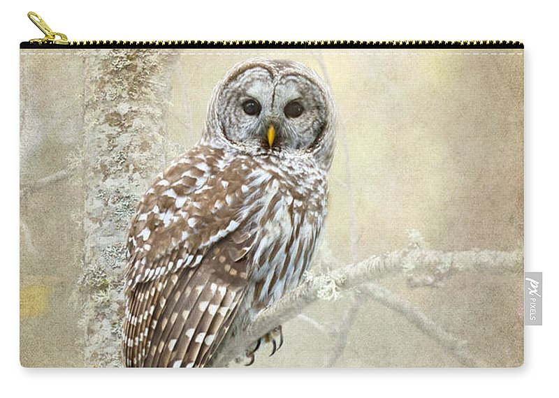 Barred Carry-all Pouch featuring the photograph Guardian Of The Woods II by Beve Brown-Clark Photography