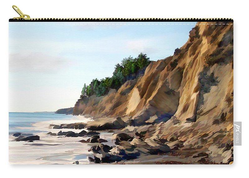 Ocean Carry-all Pouch featuring the photograph Gaviota by Kurt Van Wagner