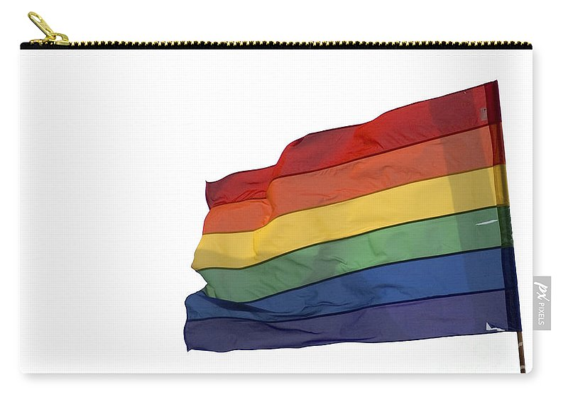 Flag Carry-all Pouch featuring the photograph Gay Rainbow Flag by Ilan Rosen