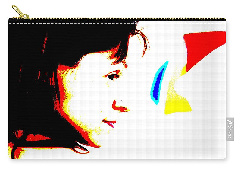 Portrait Carry-all Pouch featuring the photograph Gaze by Marko Raos