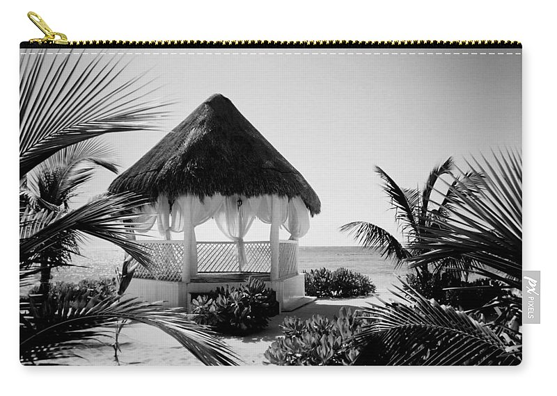 Gazebo Carry-all Pouch featuring the photograph Gazebo On The Ocean by Anita Burgermeister