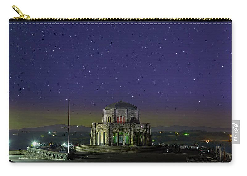 Crown Point Carry-all Pouch featuring the photograph Gazing Stars At Vista House On Crown Point by David Gn
