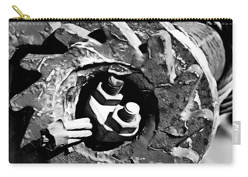 Carry-all Pouch featuring the digital art Geared by Cathy Anderson