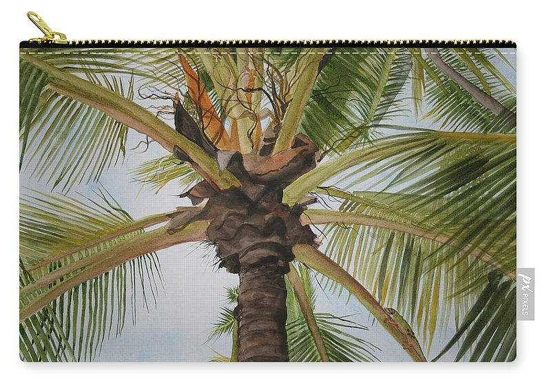 Palm Tree Carry-all Pouch featuring the painting Gecko Heaven by Jean Blackmer