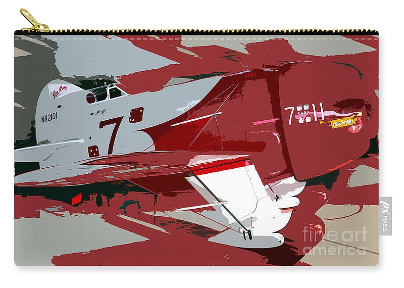 Gee Bee Racer Carry-all Pouch featuring the painting Gee Bee Racer by David Lee Thompson