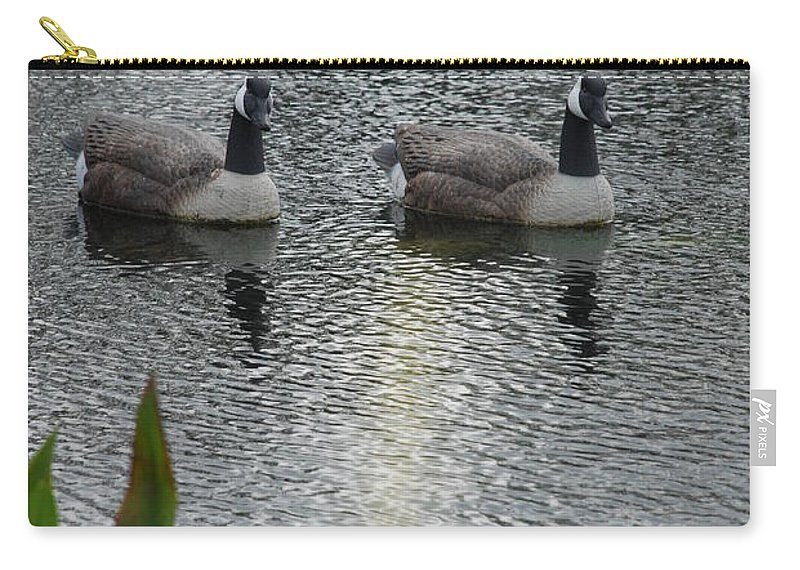 Water Carry-all Pouch featuring the photograph Geese by Rob Hans