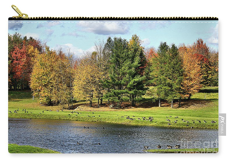 Fall Carry-all Pouch featuring the photograph Geese Sanctuary by Deborah Benoit