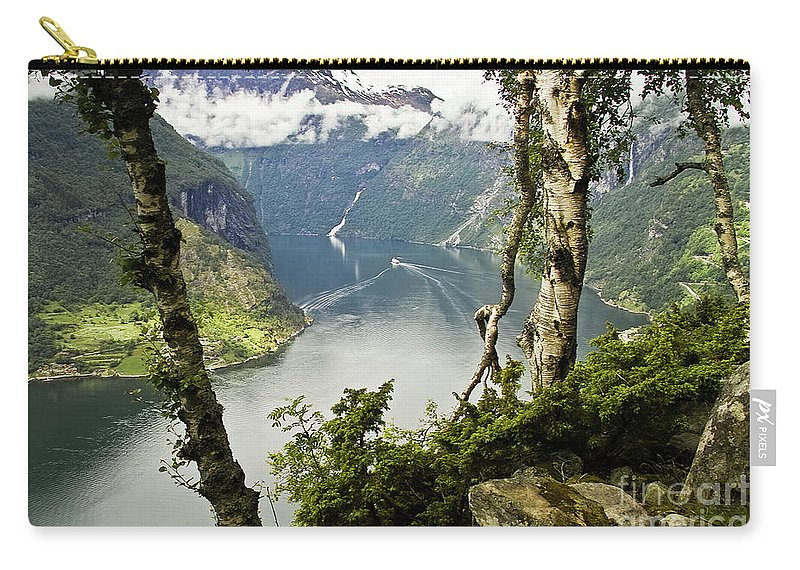 Europe Carry-all Pouch featuring the photograph Geiranger Fjord by Heiko Koehrer-Wagner