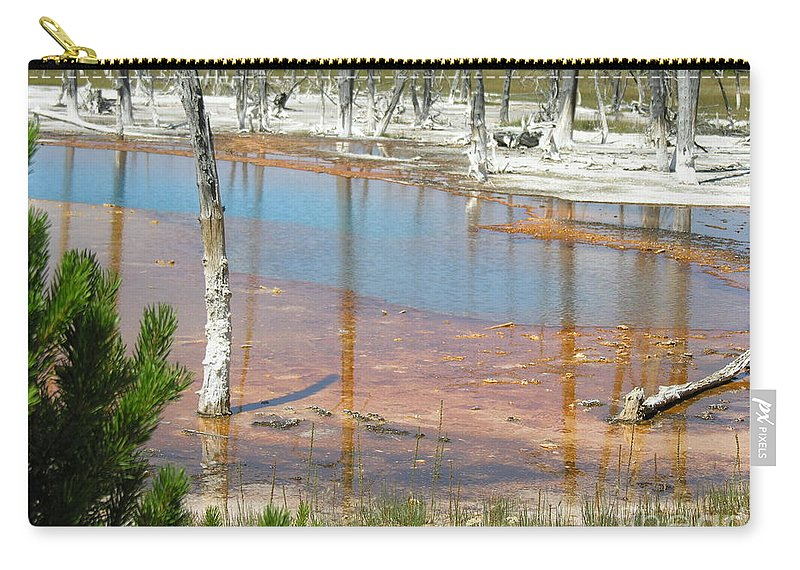 Griser Carry-all Pouch featuring the photograph Geisers by Diane Greco-Lesser