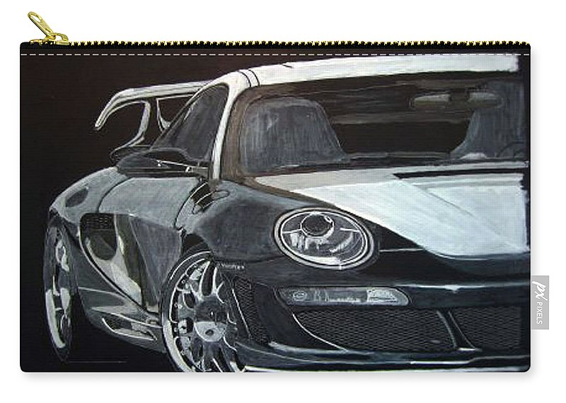 Car Carry-all Pouch featuring the painting Gemballa Porsche Right by Richard Le Page