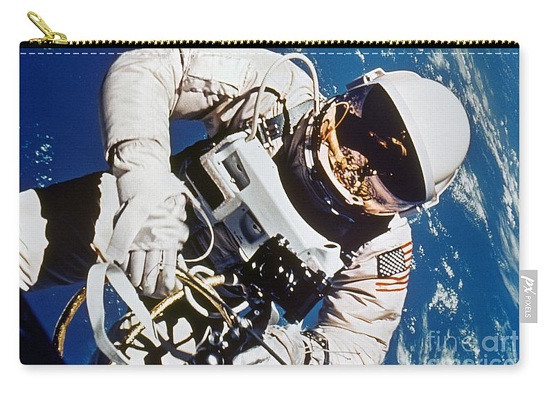 1965 Carry-all Pouch featuring the photograph Gemini 4: Spacewalk, 1965 by Granger