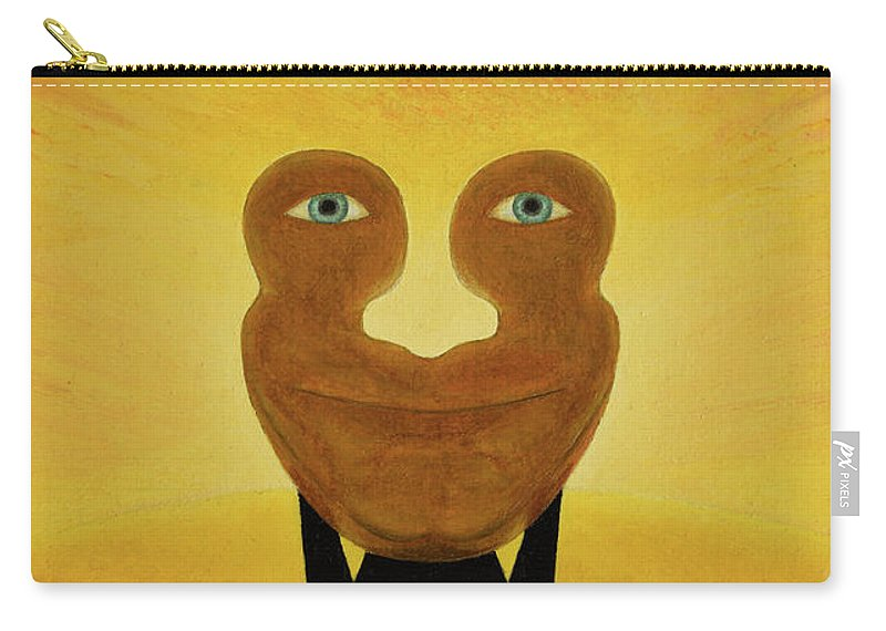 Face Carry-all Pouch featuring the painting Gemini. Self-portrait by Oleg Konin