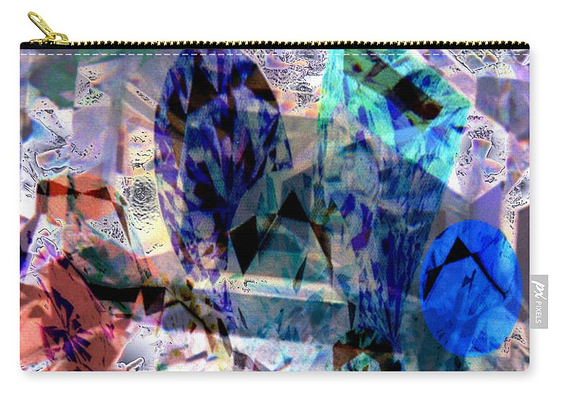 Abstract Carry-all Pouch featuring the photograph Gems Of Ice by Seth Weaver