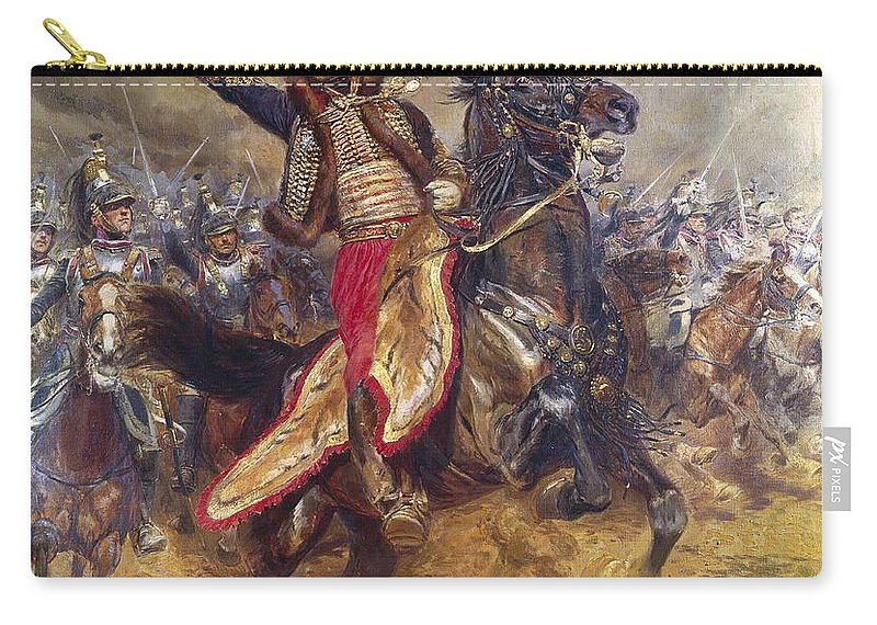 General Carry-all Pouch featuring the painting General Antoine-charles-louis Lasalle by Jean Baptiste Edouard Detaille
