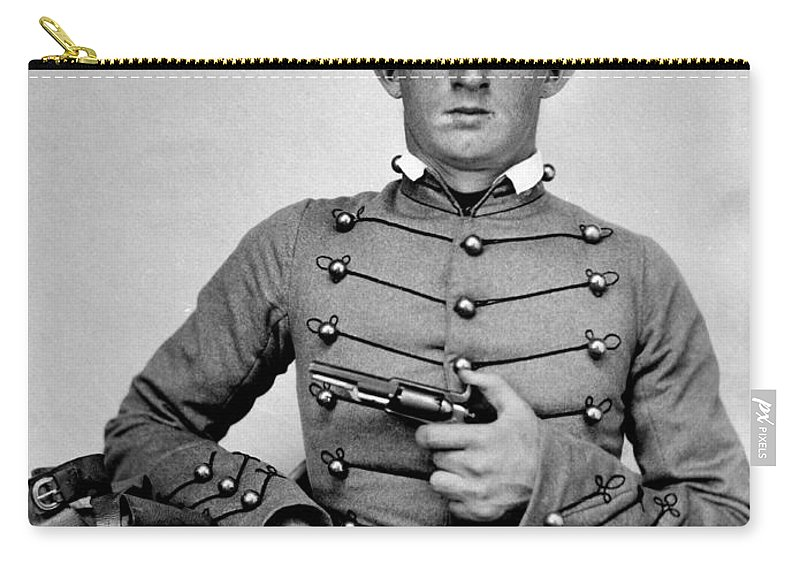George Armstrong Custer Carry-all Pouch featuring the photograph General Custer At West Point Ca 1859 by Jon Neidert