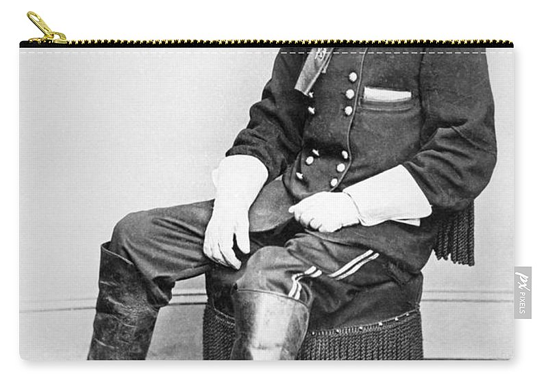 Custer Carry-all Pouch featuring the photograph General George A Custer by Matthew Brady