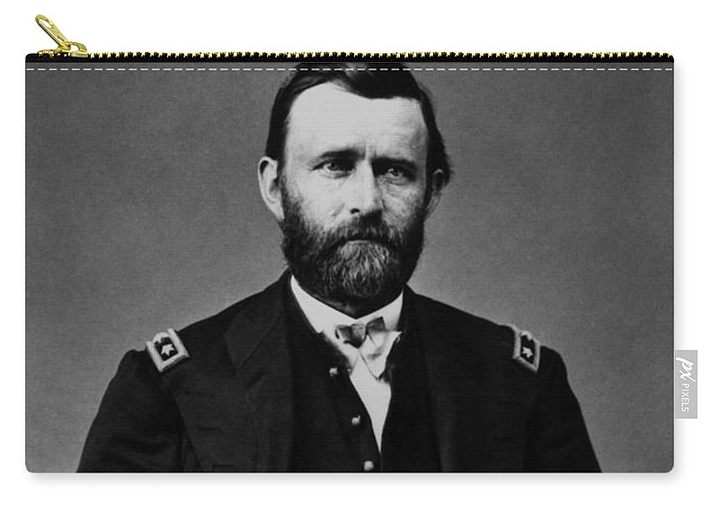 Ulysses Grant Carry-all Pouch featuring the photograph General Grant During The Civil War by War Is Hell Store