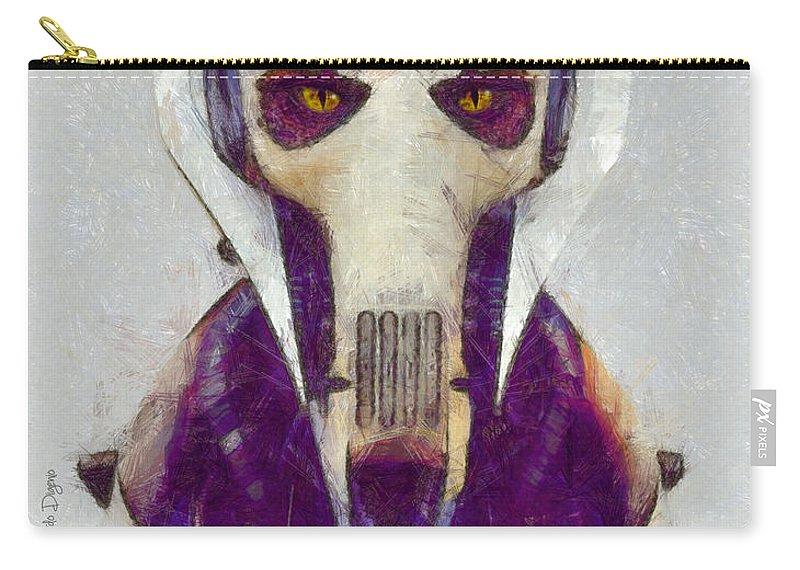 General Grievous Carry-all Pouch featuring the digital art General Grievous - Da by Leonardo Digenio