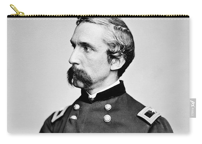 Joshua Lawrence Chamberlain Carry-all Pouch featuring the photograph General Joshua Chamberlain by War Is Hell Store