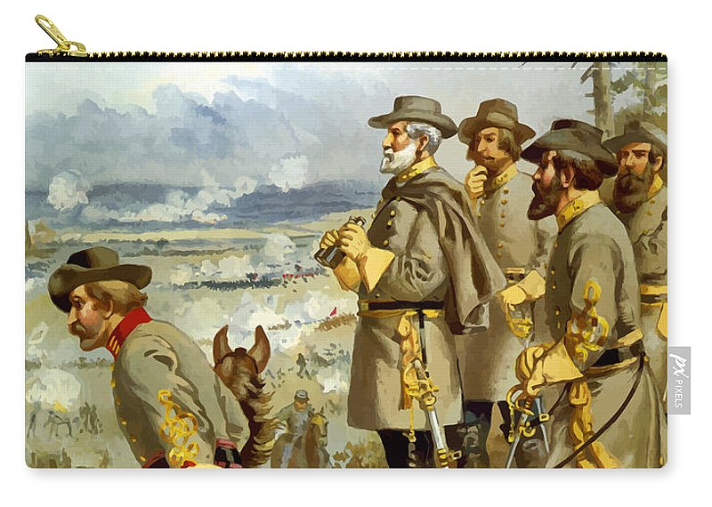 Civil War Carry-all Pouch featuring the painting General Lee At The Battle Of Fredericksburg by War Is Hell Store
