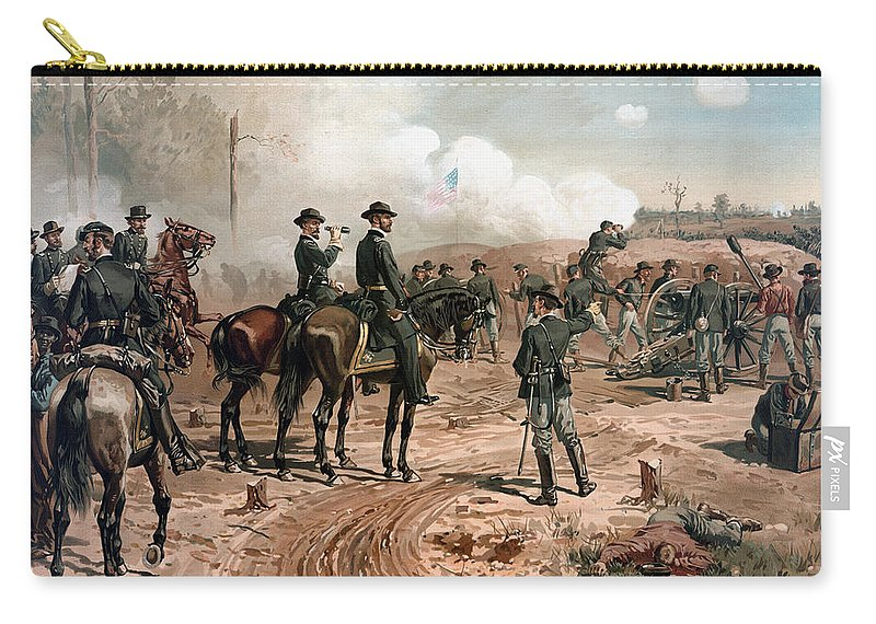 General Sherman Carry-all Pouch featuring the painting General Sherman Observing The Siege Of Atlanta by War Is Hell Store