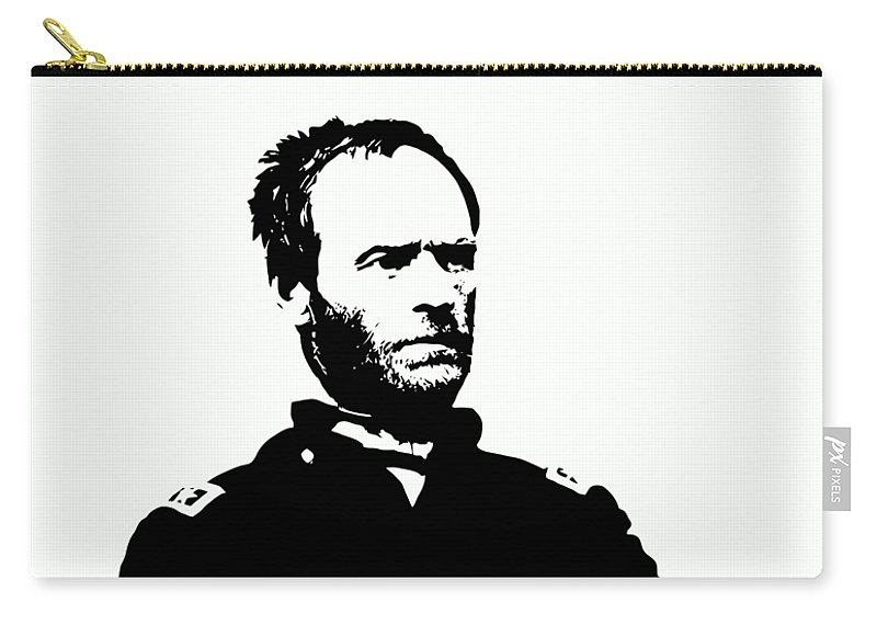 General Sherman Carry-all Pouch featuring the digital art General Sherman by War Is Hell Store
