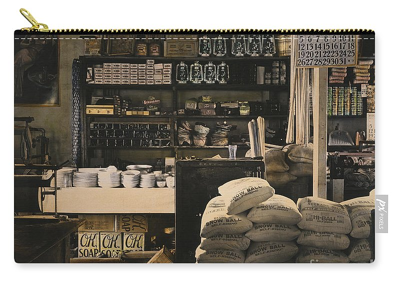 1936 Carry-all Pouch featuring the photograph General Store, 1936 by Granger
