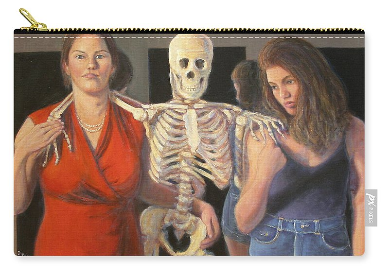 Realism Carry-all Pouch featuring the painting Generations #2 by Donelli DiMaria