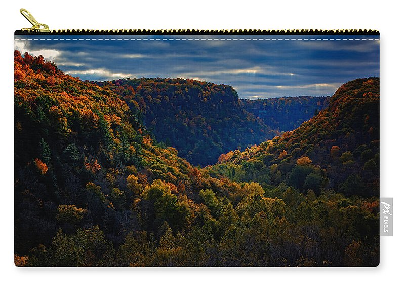 Autumn Carry-all Pouch featuring the photograph Genesee River Gorge by Rick Berk