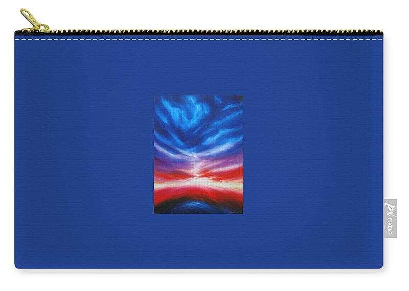 Tempest Carry-all Pouch featuring the painting Genesis IIi by James Christopher Hill