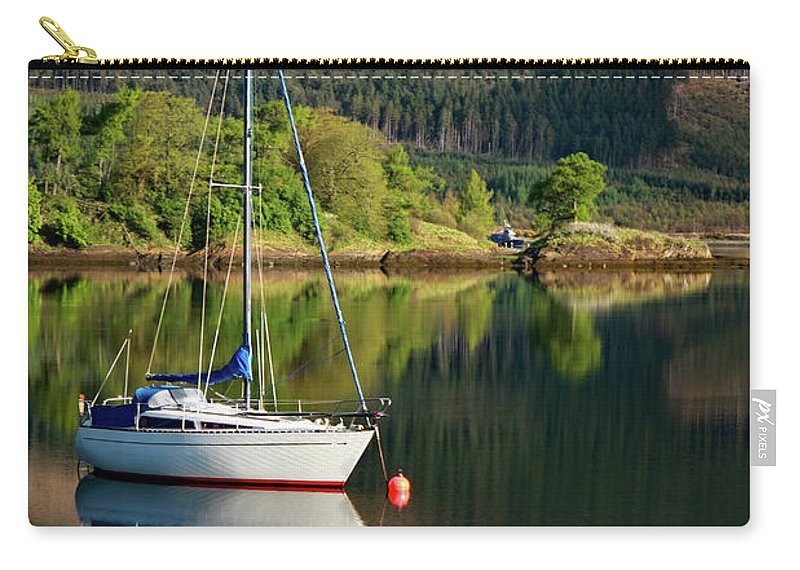 Scotland Carry-all Pouch featuring the photograph Genesta's Island by Martina Schneeberg-Chrisien