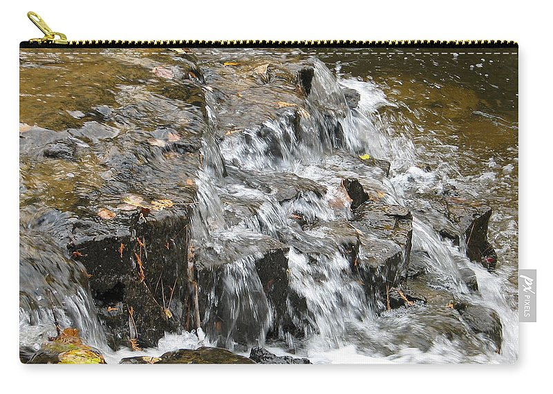 Waterfall Carry-all Pouch featuring the photograph Gentle Falls by Kelly Mezzapelle