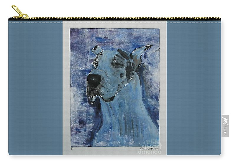 Great Dane Carry-all Pouch featuring the mixed media Gentle Giant by Cori Solomon