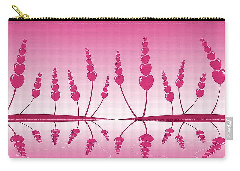 Reflection Carry-all Pouch featuring the digital art Gentle Hearts by Anastasiya Malakhova