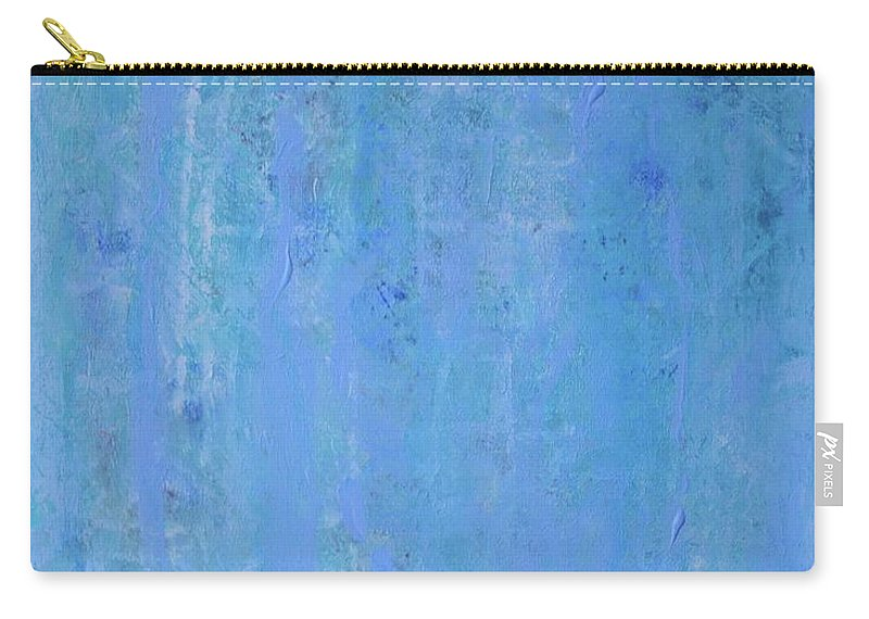 Blue Carry-all Pouch featuring the painting Gentle Rain by Margaret Fronimos