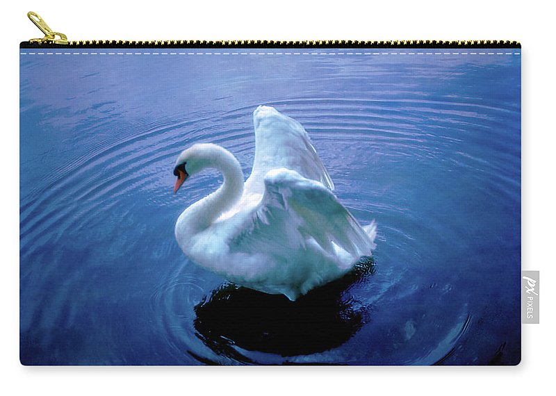 Swan Carry-all Pouch featuring the photograph Gentle Strength by Marie Hicks