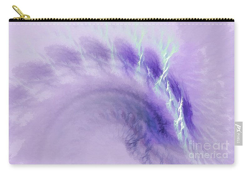 Fractal Carry-all Pouch featuring the digital art Gentle Wave Of Purple by Deborah Benoit
