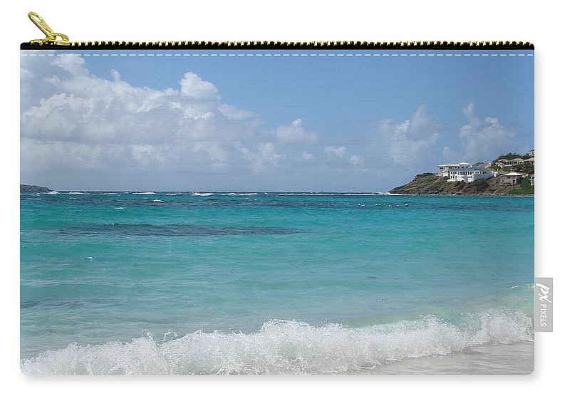 Dawn Beach St. Maarten Carry-all Pouch featuring the photograph Gentle Wave On Dawn Beach by Margaret Bobb