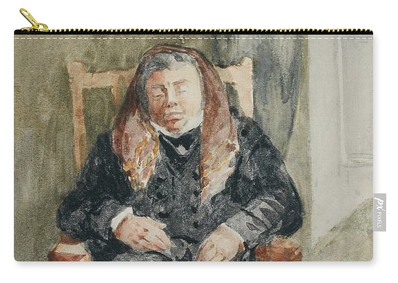 David Cox Carry-all Pouch featuring the painting Gentleman Taking A Nap by MotionAge Designs