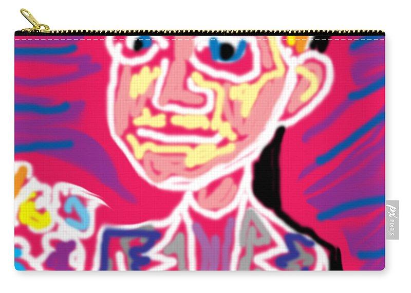 Man Carry-all Pouch featuring the digital art Gentleman W Floweres by Blind Ape Art