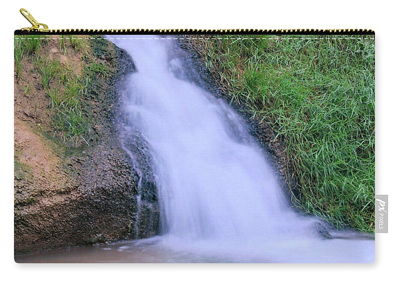 Waterfall Carry-all Pouch featuring the photograph Gently Flowing by Kristin Elmquist