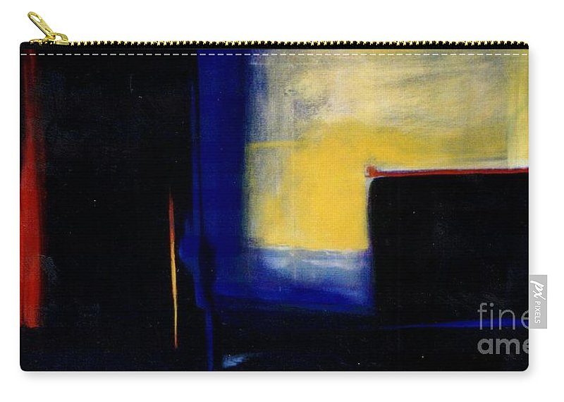 Abstract Carry-all Pouch featuring the painting Geometric 2 by Marlene Burns
