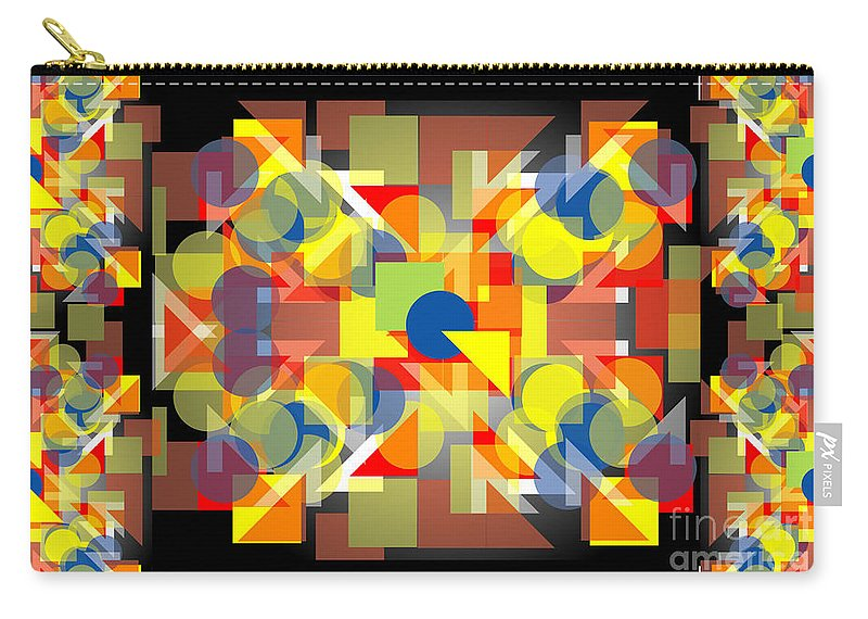 Abstract Carry-all Pouch featuring the digital art Geometric Collage II by George Pasini