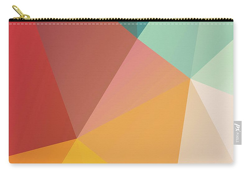 Carry-all Pouch featuring the digital art Geometric Xxix by Ultra Pop