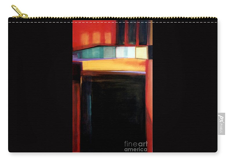 Abstract Carry-all Pouch featuring the painting Geometrics 4 Loose Ends by Marlene Burns
