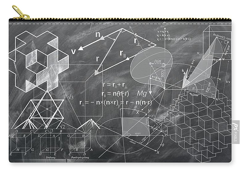 Geometry Carry-all Pouch featuring the drawing Geometry by FL collection
