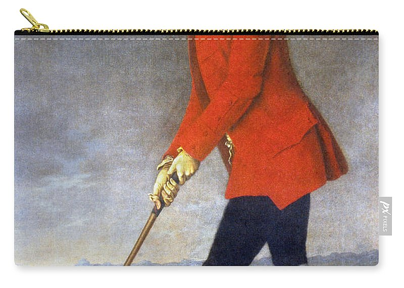 18th Century Carry-all Pouch featuring the photograph George Chambers: by Granger
