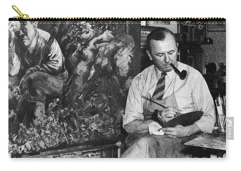 1944 Carry-all Pouch featuring the photograph George Grosz (1893-1959) by Granger